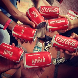Credit: Teck Chan Rachna Share A Coke Campaign delivered free coke at Institute of Foreign Language (IFL)